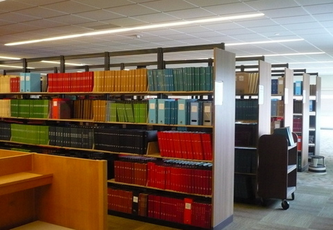 Bound periodical shelves