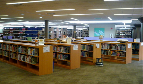 College and Career Information Collection shelves