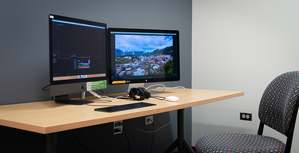 Media Lab multimedia editing station