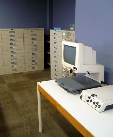 Microform viewer and drawers