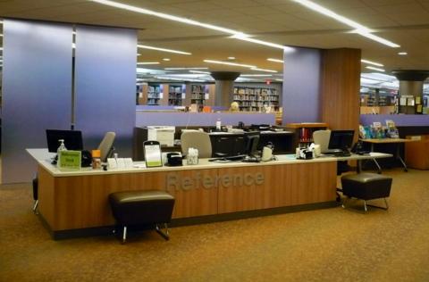 upper level reference desk