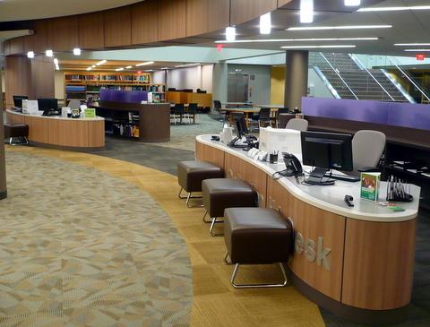 lower level reference desks