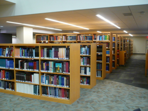 Reference collection shelves