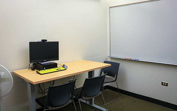 Accessible study room interior