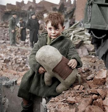 colorized world war 2 photo