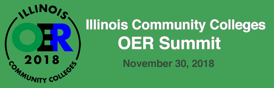 Illinois Community Colleges Open Educational Resources Summit logo 2018