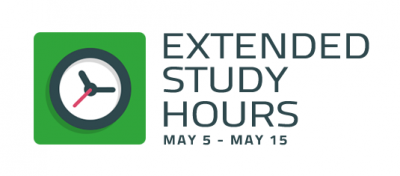 Extended Library Hours, May 5 - May 15
