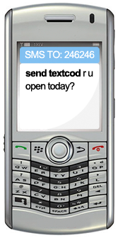 text send textcod to 246246